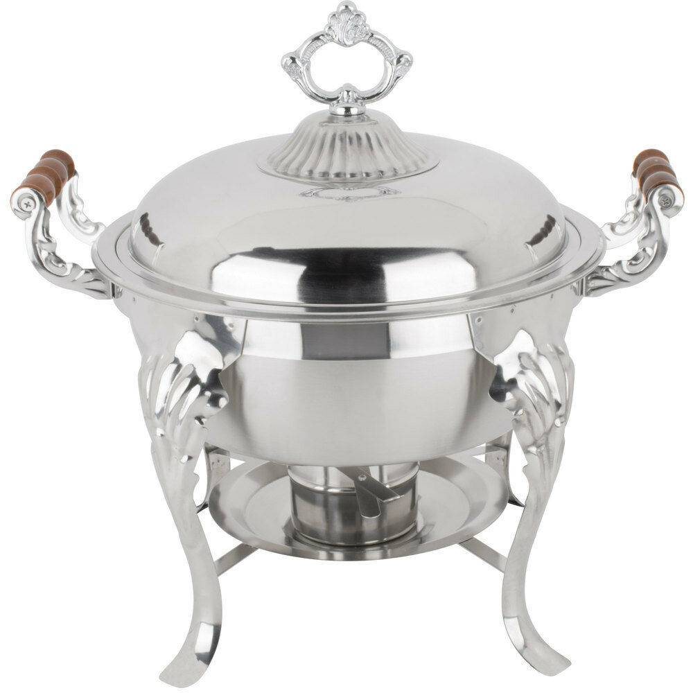 5 Qt Half Size Crown Round Catering Chafer Eztimerental
